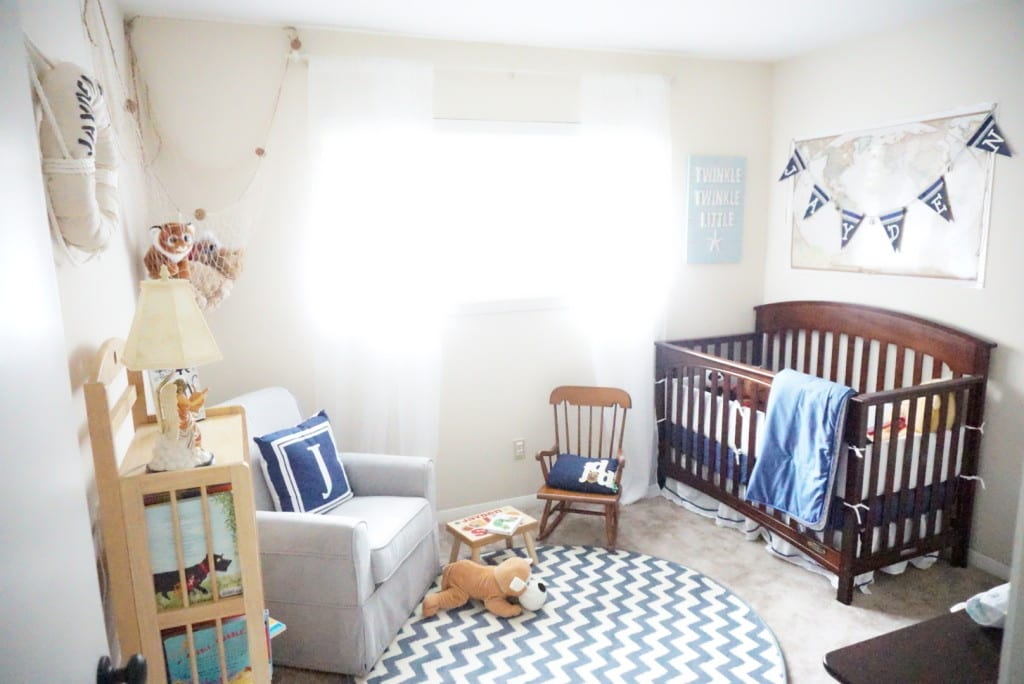 nursery, nautical nursery, gender neutral, boy nursery