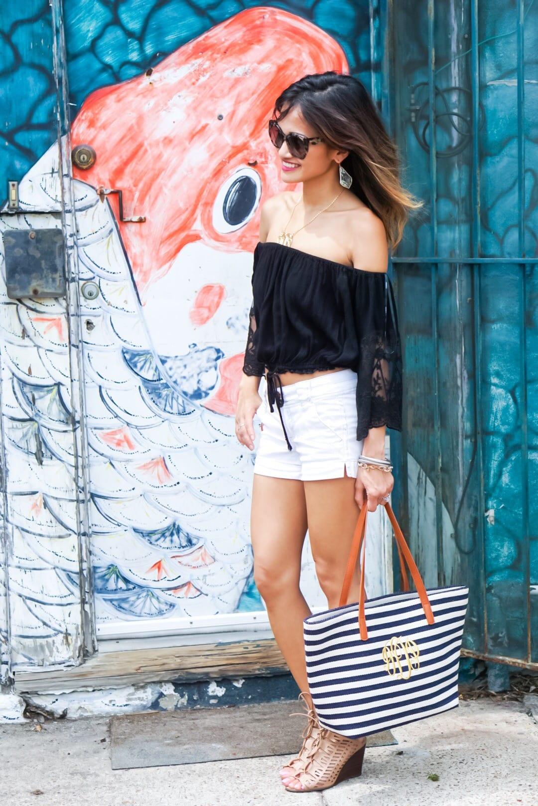 Summer Basics - Black Lace Crop Top
