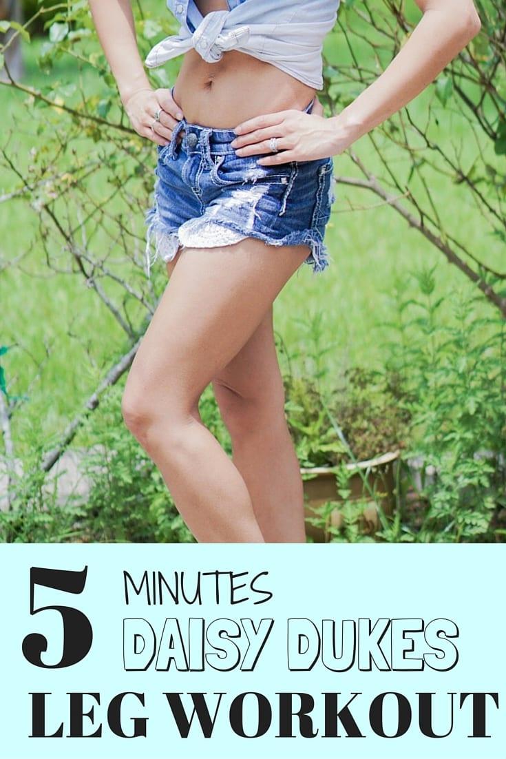 5 Minute Daisy Dukes Leg Workout