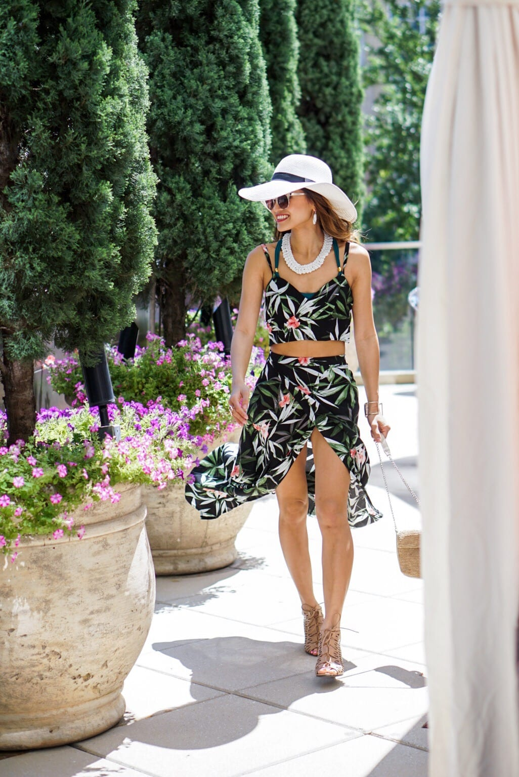 Summer Trend Alert: Palm Prints & Two Piece Sets