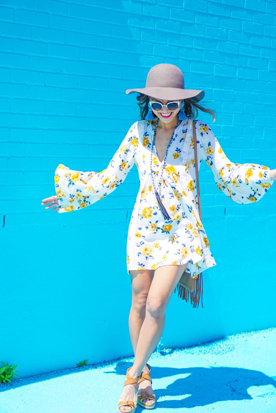 How to Wear a Long Sleeve Floral Swing Dress