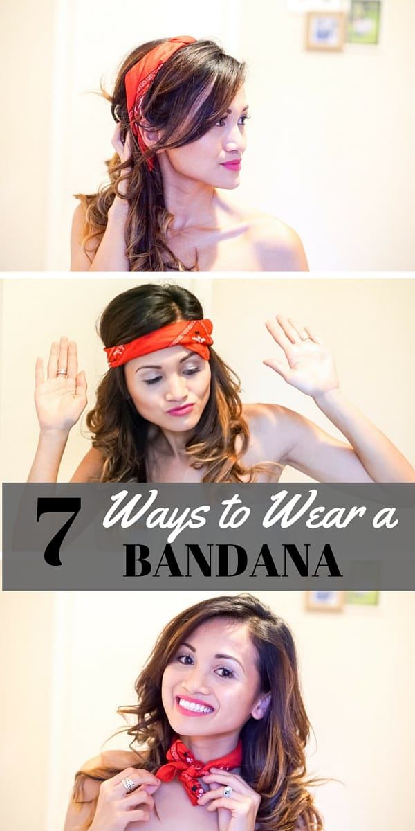7 WAYS TO WEAR A BANDANA