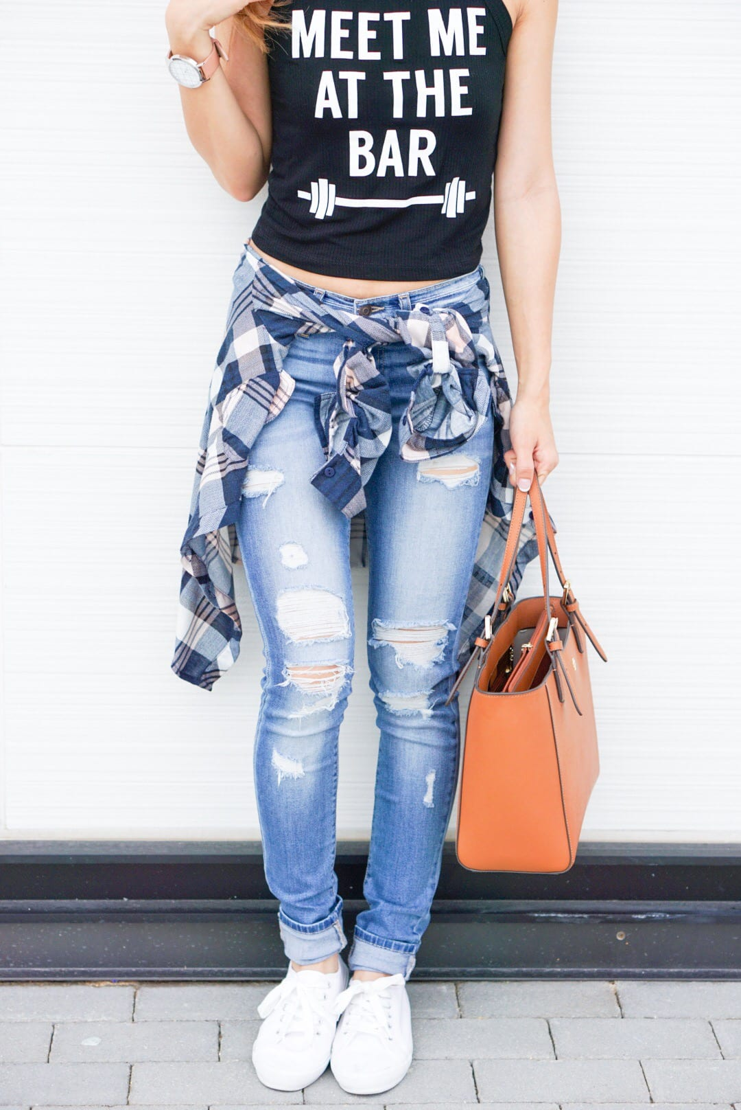 Back to School Mommy Style, fitness, destructed jeans