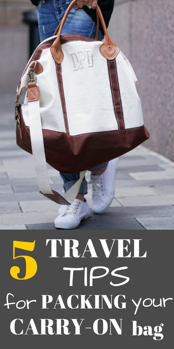 tips to pack smart in your carry on
