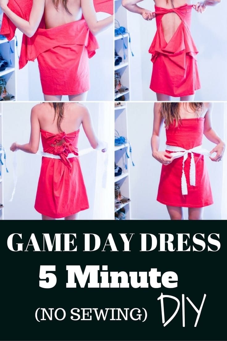How to Make a Game Day Dress in 5 Minutes