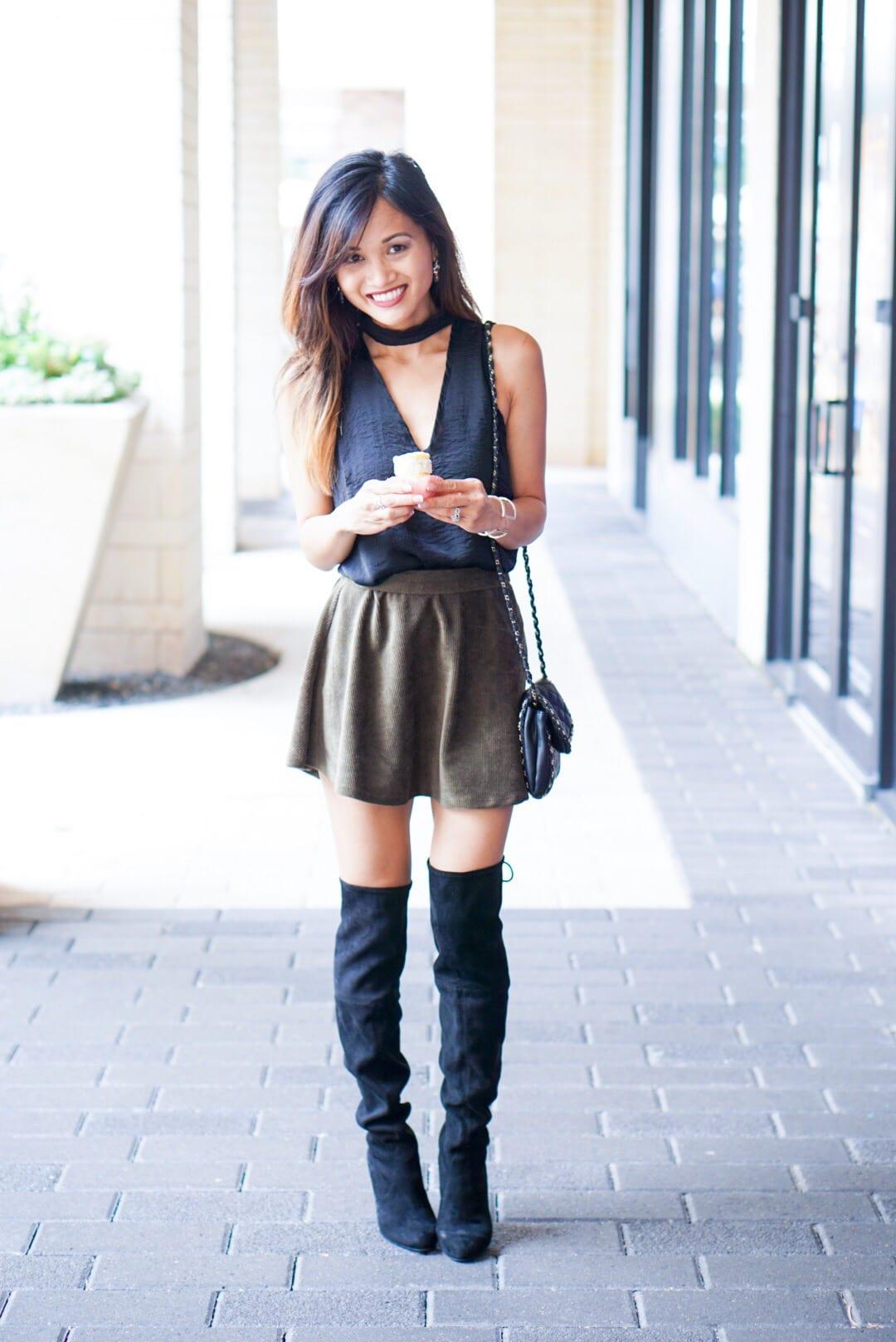 Mock Necks and Mini Skirts