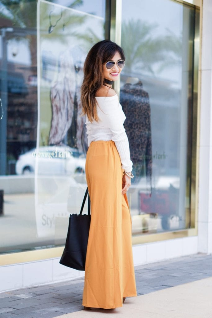 Mustard Yellow - Wide Leg Wrap Pants