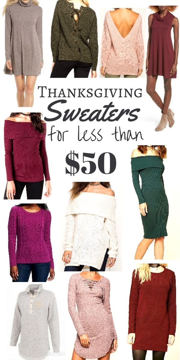The Best Thanksgiving Sweaters for under $50