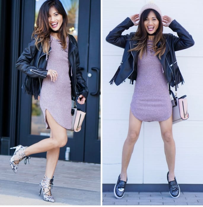 Two Ways to Wear a Sweater Dress + Cyber Monday