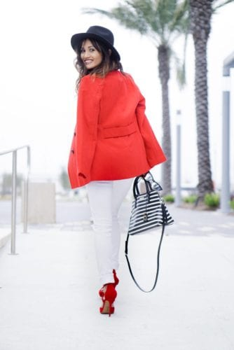 Seeing Red - Lace ups Heels and Peacoats