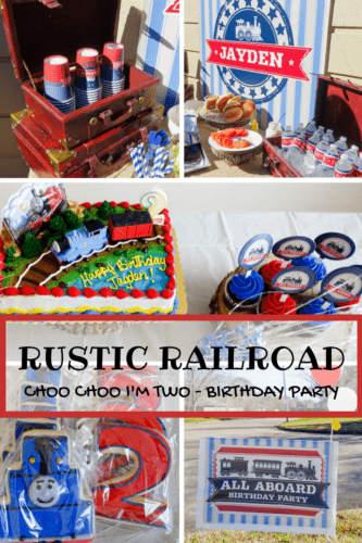 Rustic Railroad Birthday Party with Shindigz