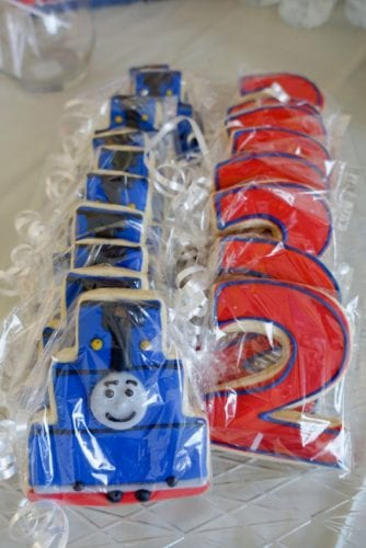 train birthday party cookies