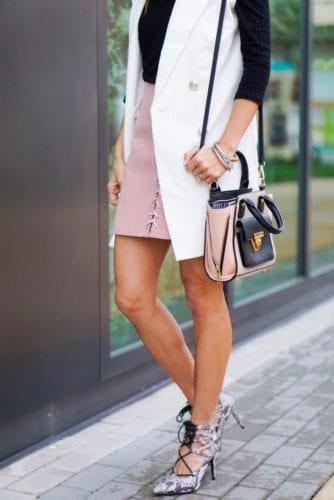 purse_snake skin lace-up heels