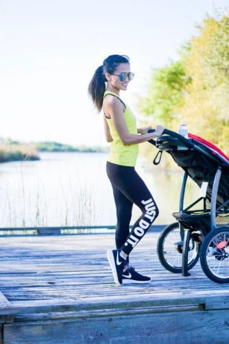 outdoor workout, exercise, mom exercise, stroller exercise, just do it, fit mom