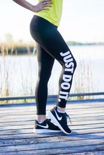 workout leggings, just do it, nike