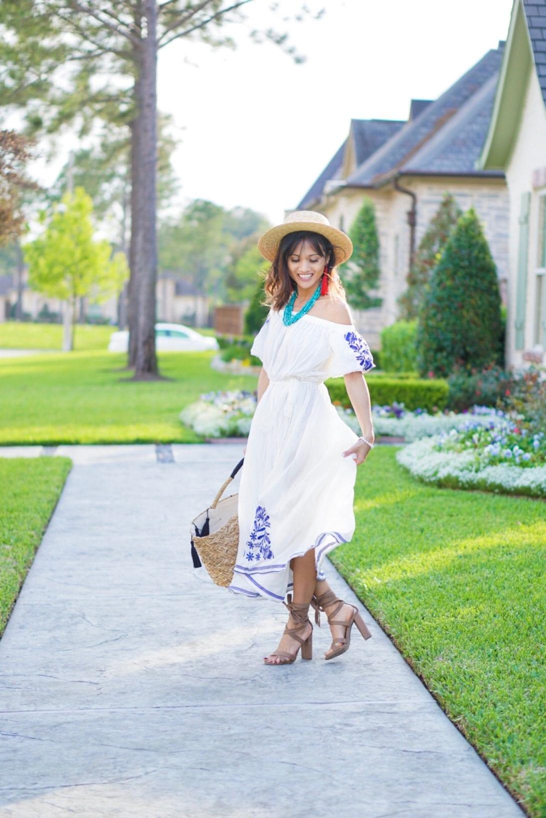 beach dress, chicwish dress, summer outfit,