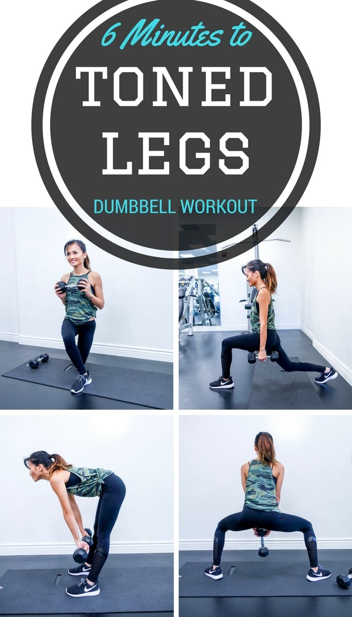 Your 6 Minutes Legs Workout by Houston fitness blogger Dawn P. Darnell - DUMBBELL WORKOUTS, TONED LEGS, AT HOME WORKOUT, EXERCISES, youtube video, exercise video, youtube workouts, LEG EXERCISES, BUTT EXERCISES, quick workouts, fit mom, exercise outfit, buckle, camo