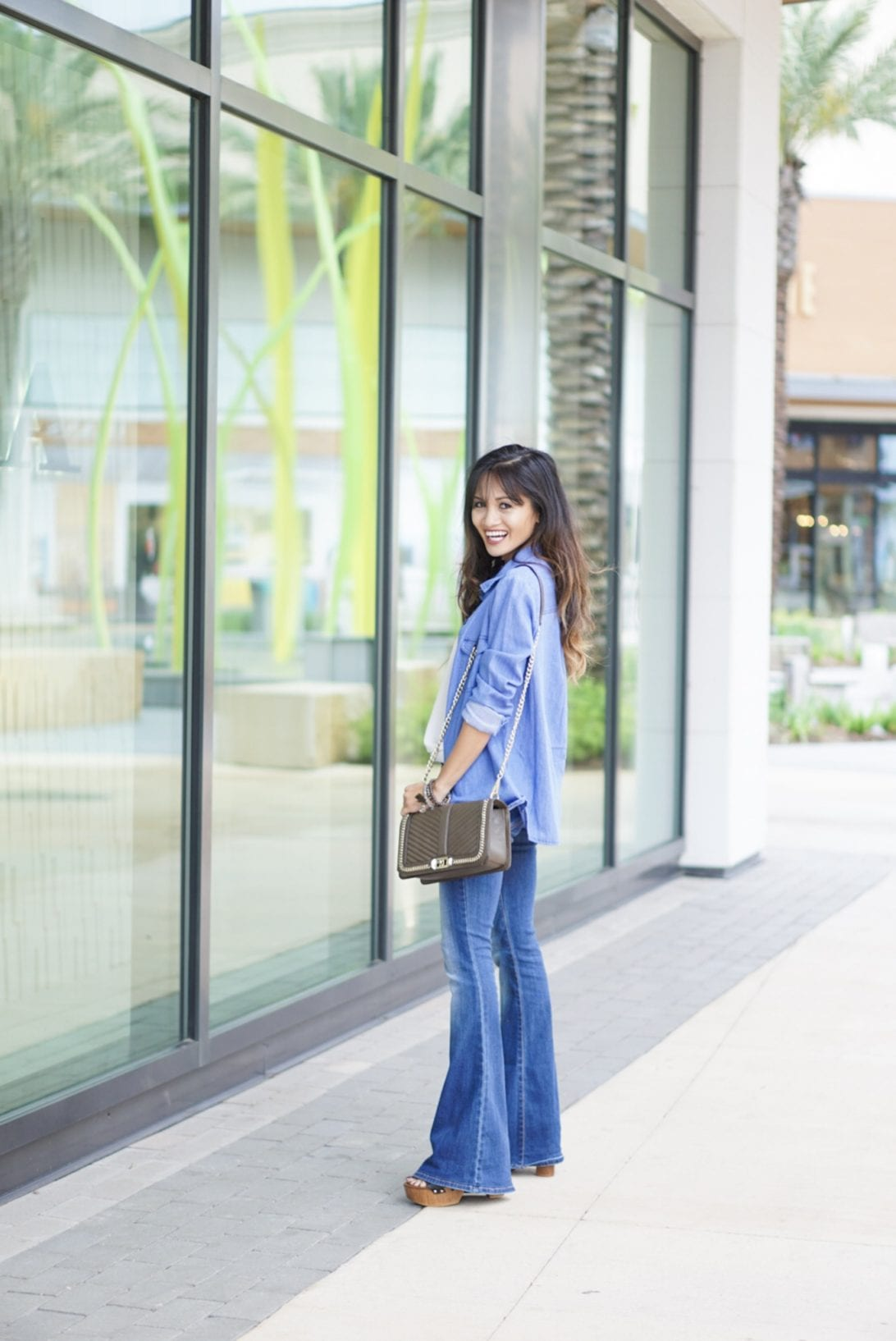 denim on denim, cross body bag, summer style
