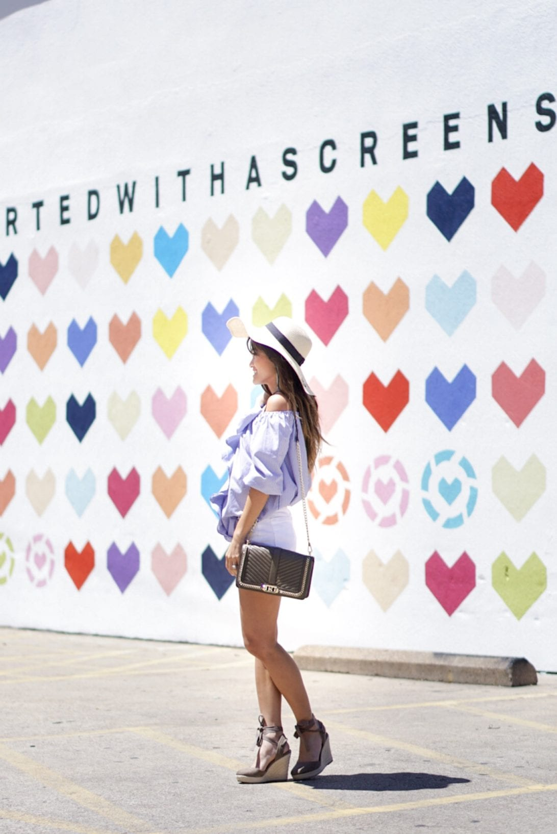 summer style, summer outfit, rebecca minkoff bag, love cross body