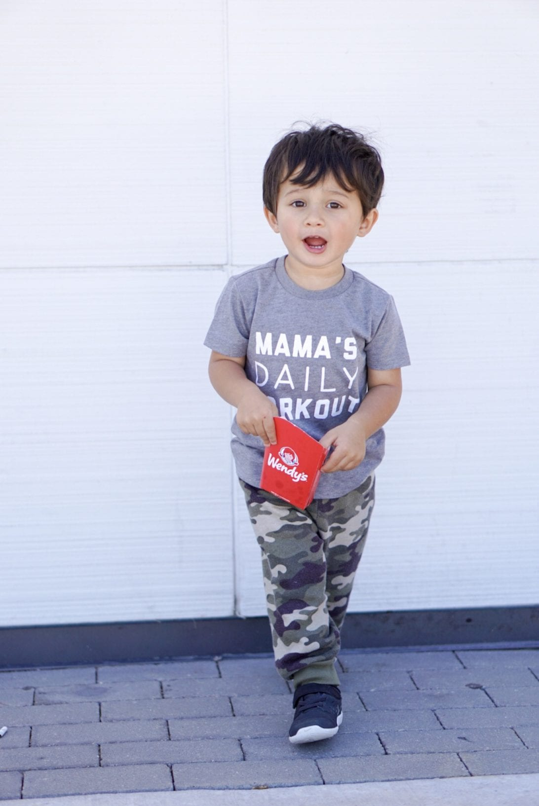 mama's daily workout, camo pants, boy outfits