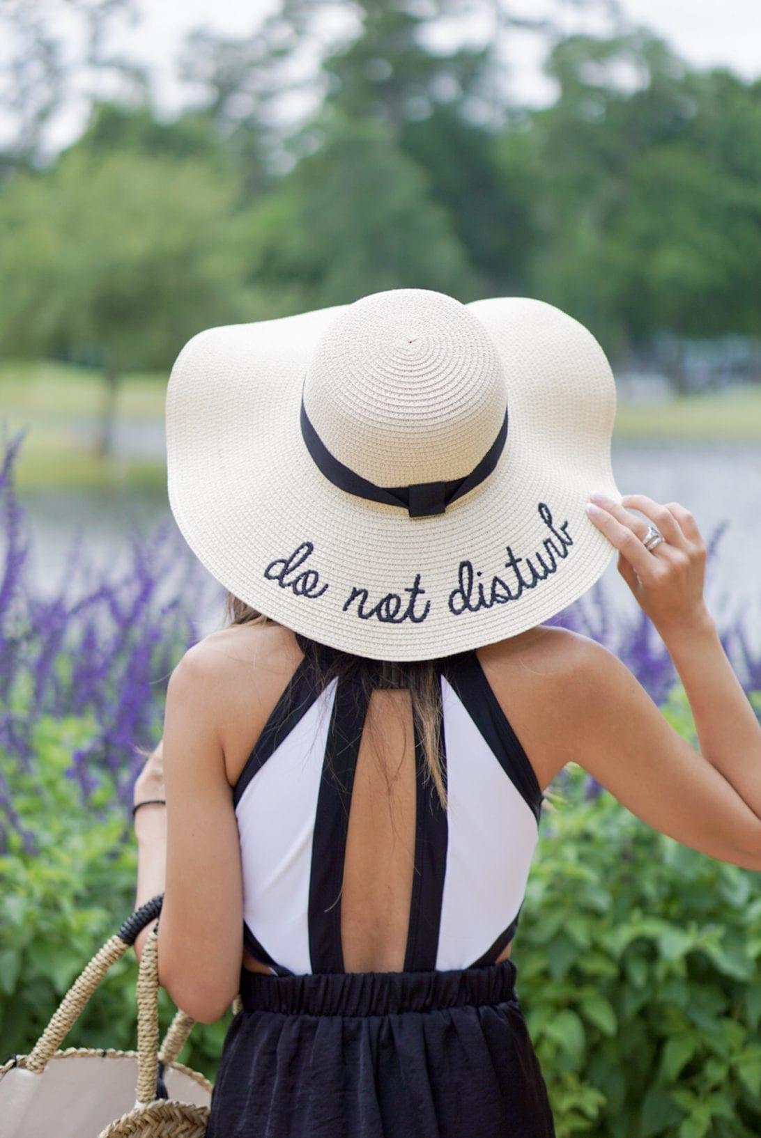 floppy hat, do not disturb hat, summer hat, straw hat