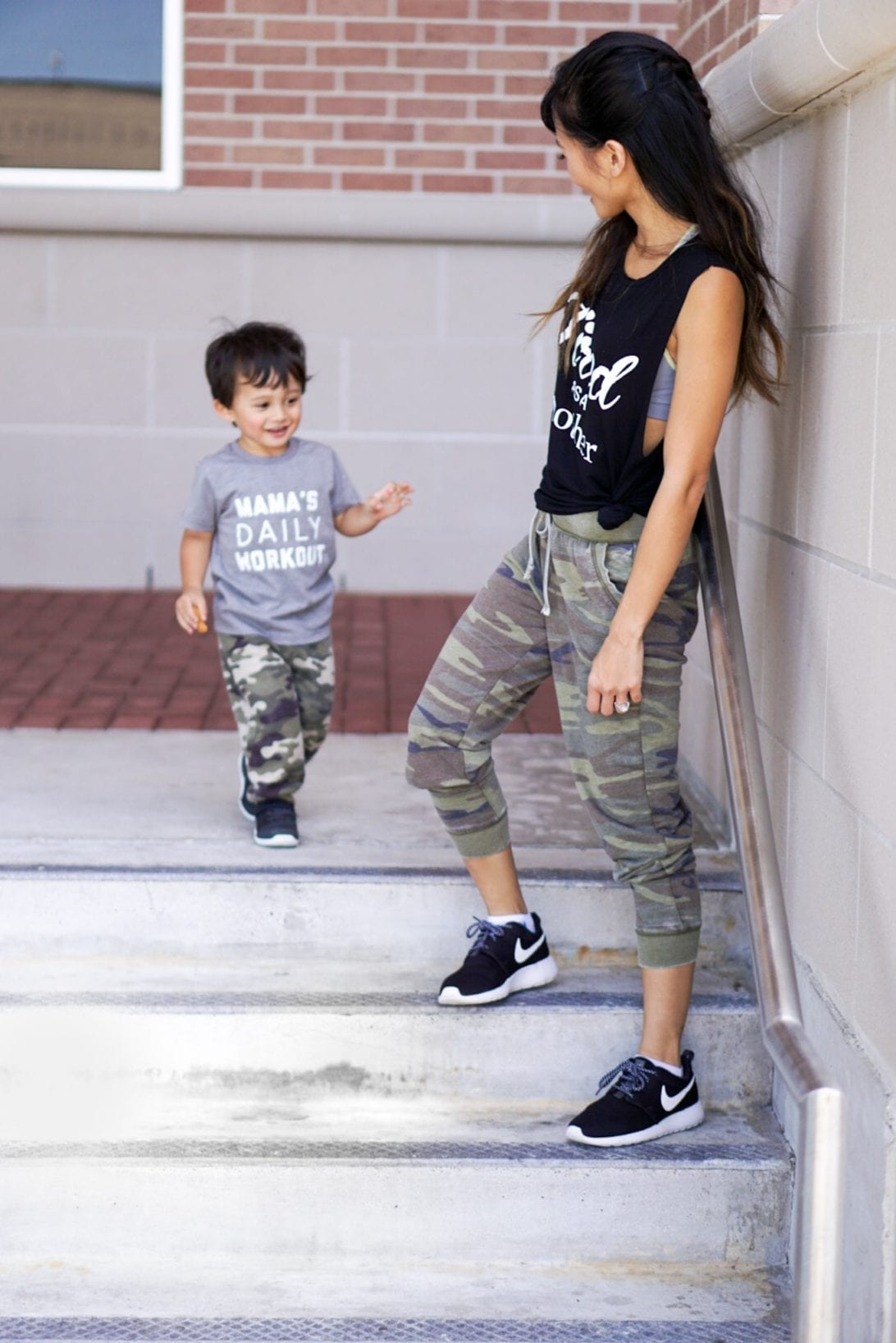 camo joggers, mommy and me, boy mom, mom life