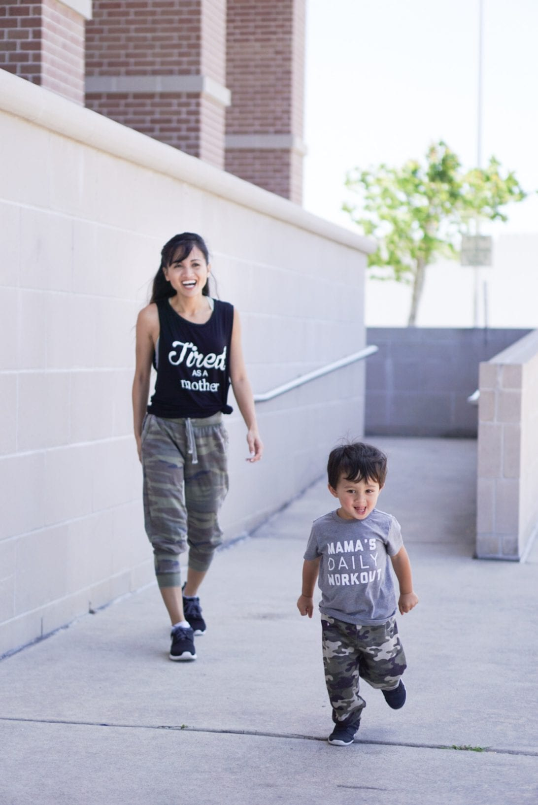 mom tee's, tired as a mother tee shirt, mama's daily workout t shirt