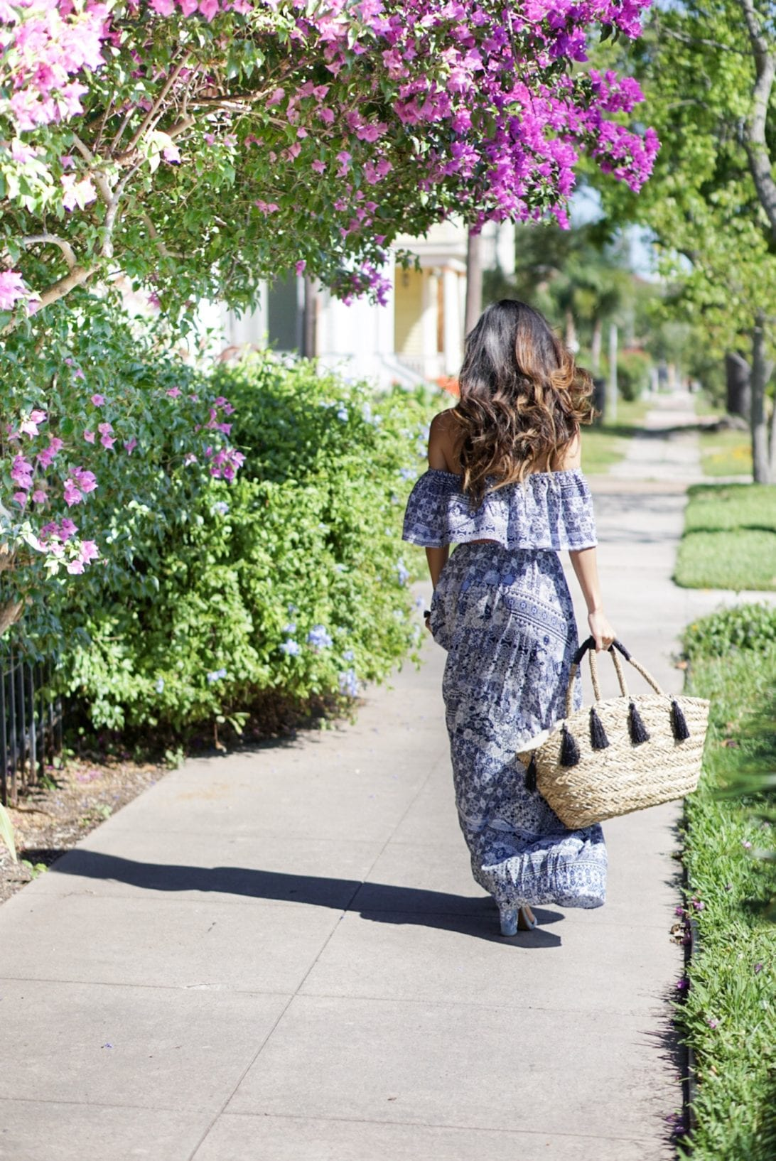 maxi, blue maxi, francescas, summer style, summer dress