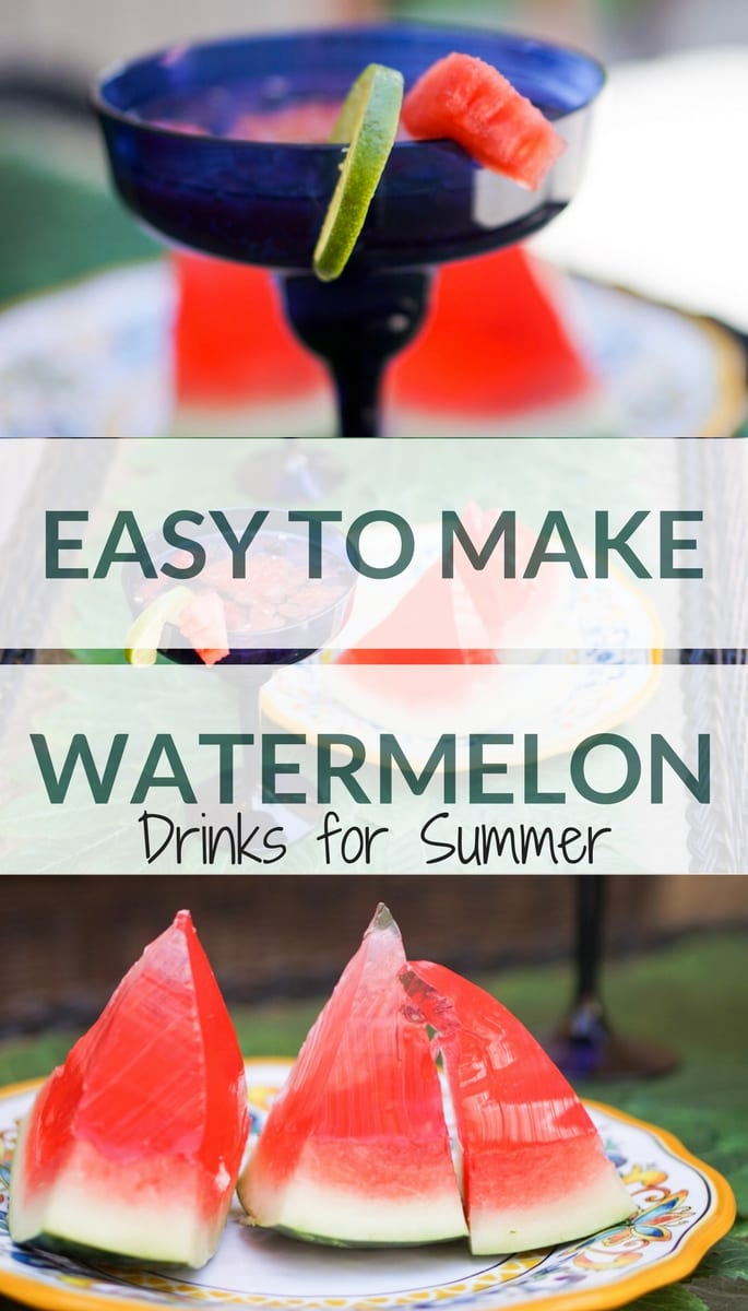 Easy to Make Watermelon Drinks for Summer, watermelon drinks, watermelon sangria, watermelon jello shots, alcoholic drinks, party drinks, summer drinks, beverages, memorial day, diy, easy recipe, summer recipe