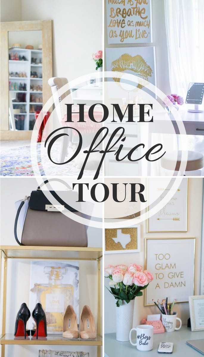 home office tour, vanity room, wardrobe, fashion blogger office, closet office, shoe closet, home office, home decor, office inspiration, shoe shelves, beauty room