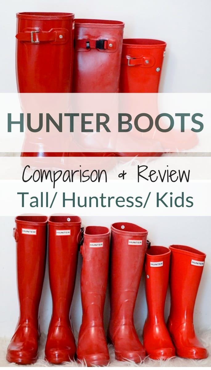 huntress boots, hunter boots, hunter boots review, original tall hunter boots, kids hunter boots, red hunter boots