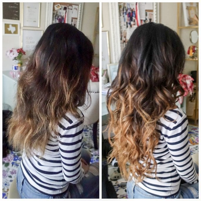 before and after hair extensions, irresistible me hair extensions, how to hair, how to hair extensions, how to take care of hair extensions, 22 inches