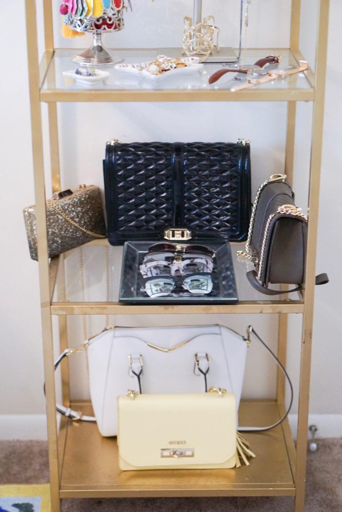 ikea shelf, ikea glass shelf, accessory display, office display shelf, display shelf, closet display shelf