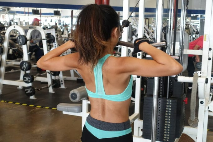 cable exerces, upper body workouts, tricep pull downs, reverse girl trice pull down, high pulls, delt row, exercises, upper body exercises, shoulder workouts, arm workout, tone arms,