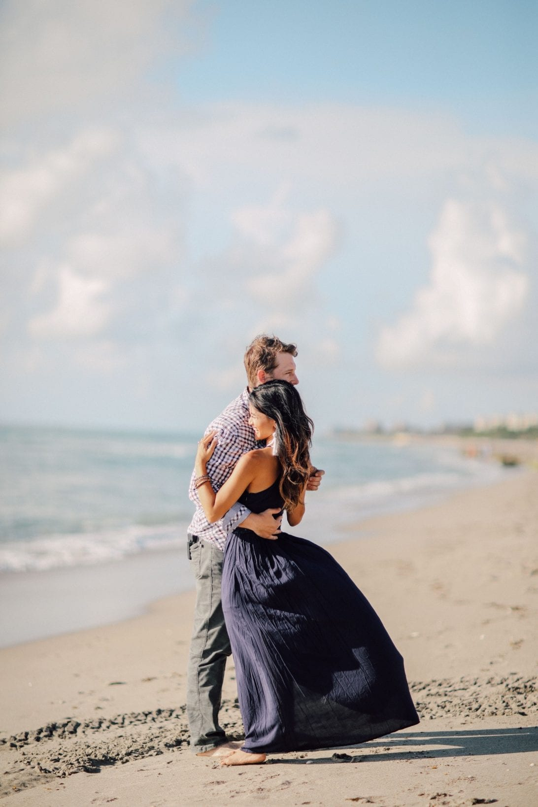 ENGAGEMENT PHOTOS, COUPLE PHOTOS. BEACH PHOTOSHOOT, BEACH ENGAGEMENT, BEACH ANNIVERSARY SHOOT, WHAT TO WEAR AT A PHOTO SHOOT, NAVY MAXI