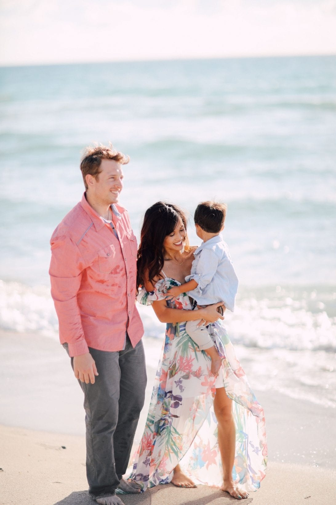 power of prayer, psalm 43:1, family pictures, high low maxi dress, off the shoulder maxi dress, beach family pictures, family photos, professional family photos