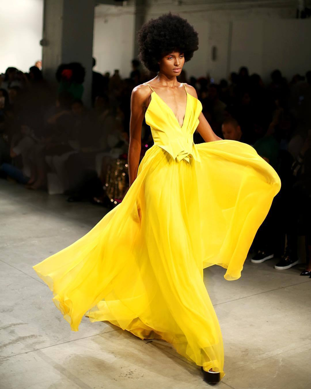 Leanne Marshall, NYFW 2017, NYFW, New York FASHION WEEK, NYC travel guide, YELLOW DRESS