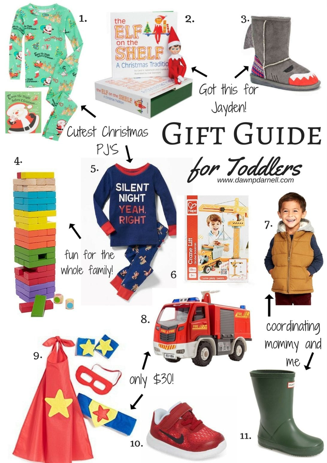 toddler gift guide, gift guide for kids, christmas gifts for children, kids hunter boots, elf on the shelf