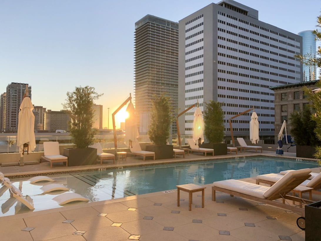 hotel Alessandra, rooftop hotel pool, luxury hotel, downtown Houston, Houston hotels, hotels for couples, staycation hotel