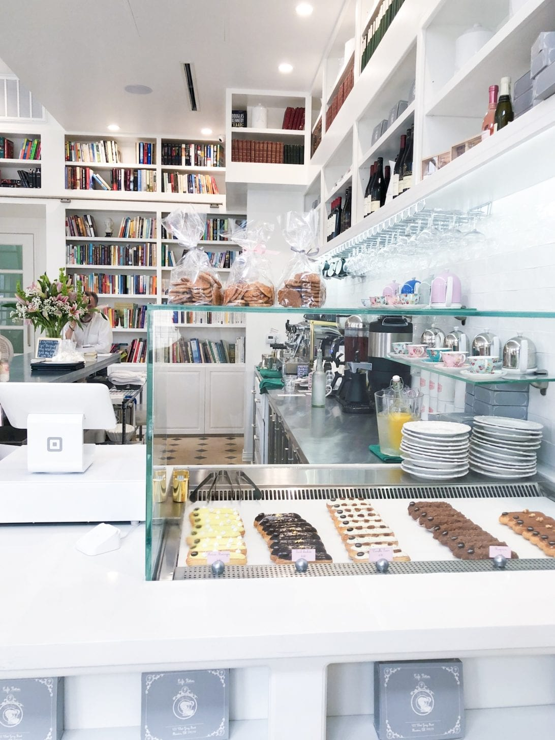Cafe Poetes, cafes in Houston, Brunch spots in Houston, Houston restaurants, Instagram worthy restaurants, eclairs, French inspired cafes