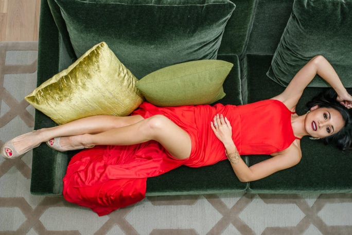 red dress gown, a couture cause, fashion philanthropy,