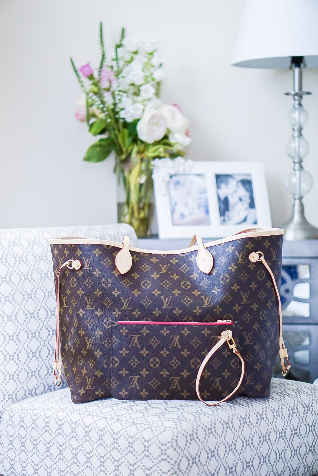 Louis Vuitton bag box, Louis Vuitton, Neverfull GM, LV Monogram, pivoine interior, LV Neverfull GM, bag organizer, Apple Guard, luxury handbag