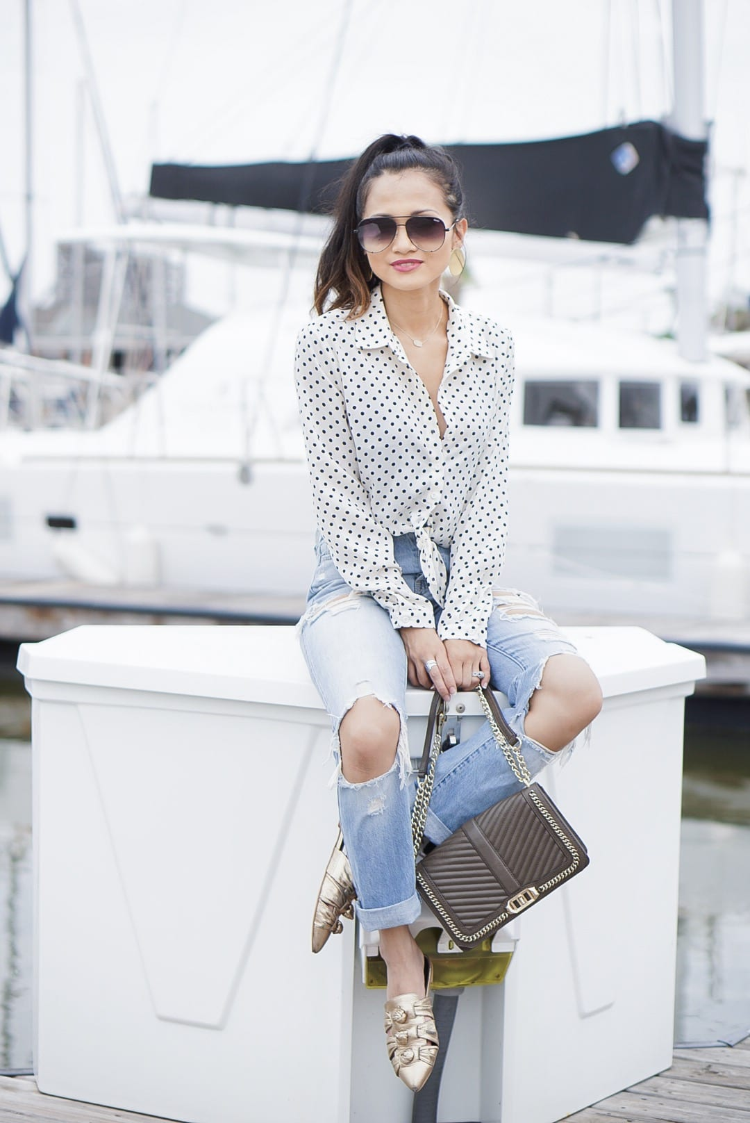 coping tips, faith, praying, power of prayer, dealing with a tragedy, dealing with grief, mom guilt, #polkadot #summerstyle, quay sunglasses, #momstyle, Rebecca Minkoff shoes, gold mules, Rebecca Minkoff love crossbody, quay sunglasses, ripped ankle jeans, mom jeans, high waisted jeans