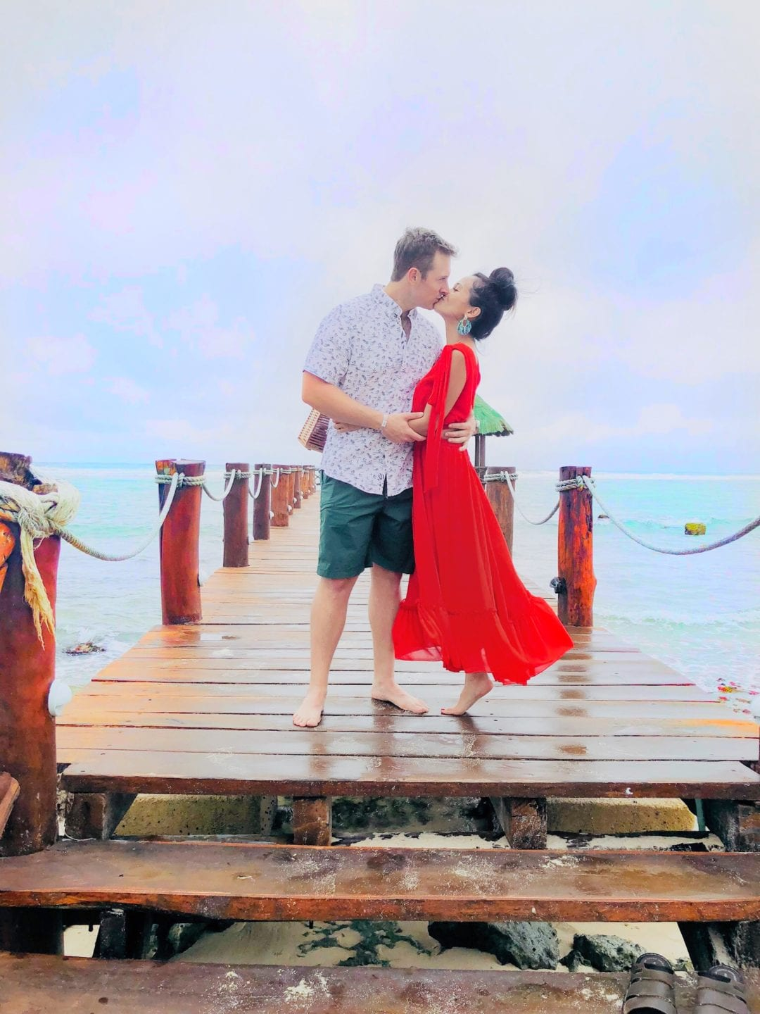 #visitmexico, Tulum, mexioc, Akumal, anniversary pictures, red dress, summer style, #couplesgoals, #summerfashion, vacation style, what to wear to Mexico, vacation style