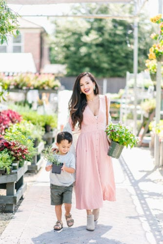 mommy and me, summer to fall style, fall fashion, pink dress
