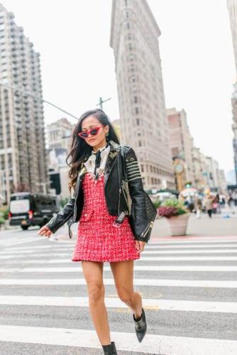 FLATIRON NYC, TWEED EMBELLISHED DRESS, #STREETSTYLE