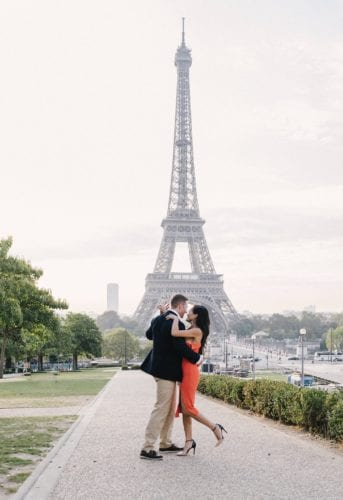 Eiffel Tower, couples picture, dancing