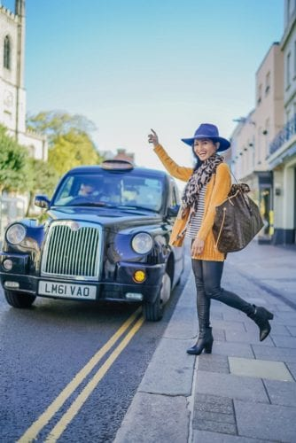 black cab, London, Windsor streets