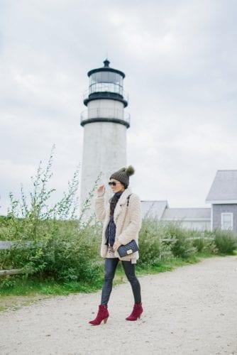Cape Cod, lighthouse, Chanel boy bag
