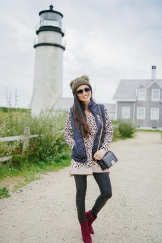 Quay desi sunglasses, leopard tunic